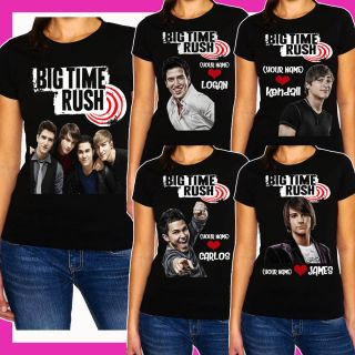 New Big Time Rush Black Size S   3XL Woman T Shirt Shirt tee for girl
