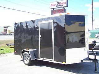 Newly listed 2013 6X12 SINGLE AXLE BLACK ENCLOSED CARGO TRAILER W/REAR