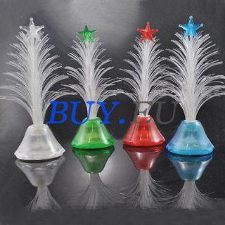 Color Christmas Xmas Tree Fiber Optic LED Night Light