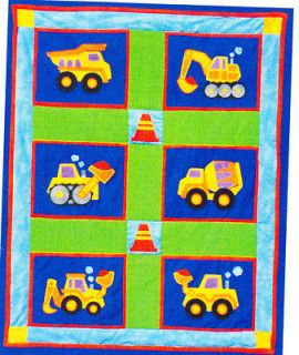 Big Rigs   fun vehicles applique & pieced quilt PATTERN for boys