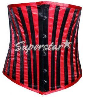 Corset 24 Steel Boned Black White Striped or Satin Cotton 17 cols 926U