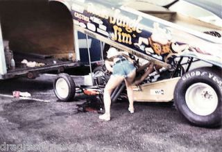 Jungle Pam & Jungle Jim Liberman 1973 Chevy Vega NITRO Funny Car