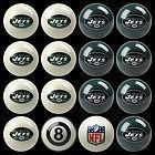 NFL New York Jets POOL Table Billiards Gameroom BALL SET Cue