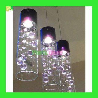 Glass Crystal Ceiling Lighting Pendant Lamp Fixture Chandelier Xmas