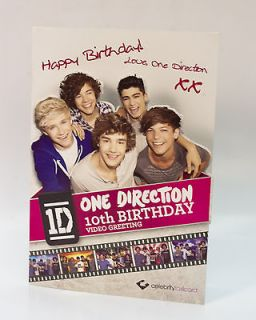 One Direction Happy 10th Birthday Video Greeting Card   Celebrity
