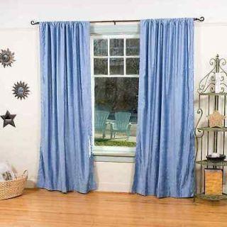 Caribbean Blue Velvet Curtains / Drapes / Panels   Cust