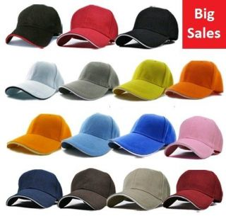 15 Colors New Cotton Baseball Golf Plain Blank Ball Cap Hat