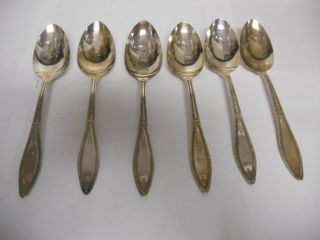 WM Rogers A 1 Plus Oneida Ltd Serving Spoons Set of 6