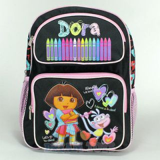 Dora the Explorer Toddler 14 School Black Medium Backpack Bag   Girls