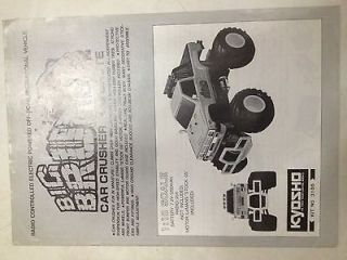 Used Kyosho Manual   Big Brute Monster Truck