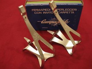 Campagnolo Large Alloy Toe Clip pair new in Campagnolo Super Record