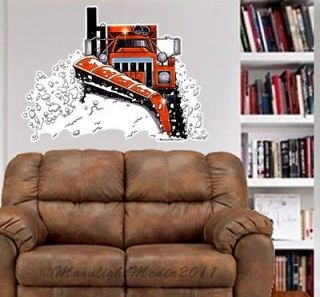 Snow Plow Sander Big Rig Truck WALL GRAPHIC FAT DECAL MAN CAVE BAR