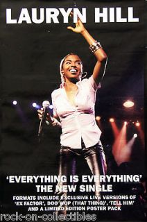 Fugees Lauryn Hill 1999 Everything Is Everything Original UK Promo