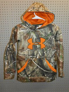 NWT UNDER ARMOUR boys BIG LOGO HOODIE youth SIZE YL realtree AP CAMO