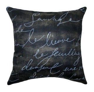 Pen Pal Blackbird French Writing Lumbar or Square Decorative Throw