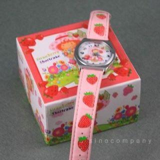 New Strawberry Shortcake Childrens Wristwatch Watch GIRLS DOLLS XMAS