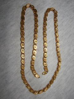 Newly listed 24K YELLOW GOLD WIRE LINK STYLE NECKLACE WITH DIAMOND CUT