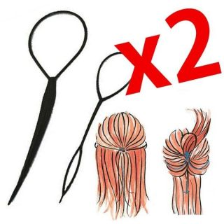2PCS x Topsy Tail Hair Braid Pony Tail Maker Styling Tool Fashion Kit