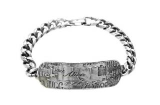 Disney Couture Tom Binns Alice in Wonderland Engraved ID Bracelet