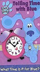 Clues   Telling Time With Blue   VHS Kids Dog Cartoon Movie video Tape
