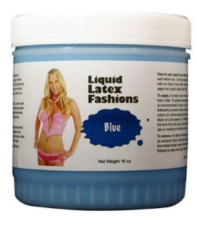 16oz Blue Liquid Latex Body Paint