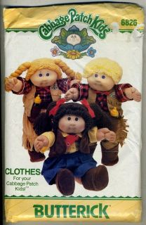 Cabbage Patch Kids Western Clothes Pattern   16 Dolls   Mostly Uncut