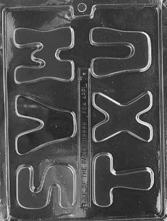 LETTERS   S, T, U, V, W, Chocolate Candy Mold 2 3/4 tall x 3/8 deep