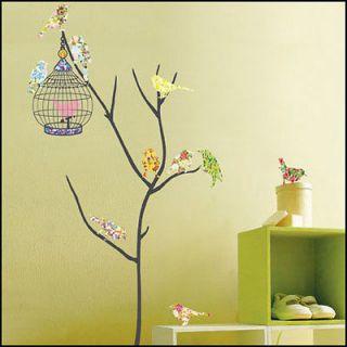 BIRD&CAGE Decor Mural Art Wall Paper Sticker PS58073