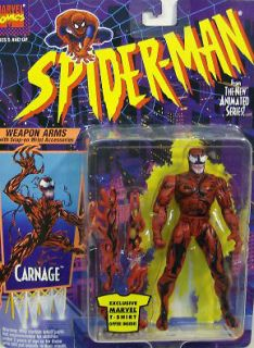 Animated Series Carnage #1 With Detachable Weapon Arms By Toy Biz MOC