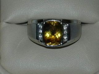 Newly listed TOPAZ BIRTHSTONE RING   White Gold w/ Diamonds