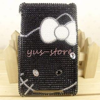 Black Hello Kitty crystal Skin cover case for Google Nexus 7 Tablet
