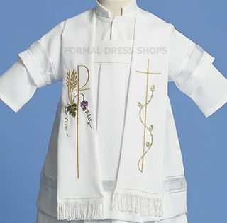 CHRISTENING WHITE 3 PIECE ROBE BOYS BAPTISM OUTFIT BLESSING SACRAMENT