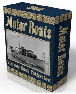 MOTOR BOATS 13 Vintage Books on CD Power Boats, Boat Building Plans