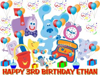 BLUES CLUES BIRTHDAY FROSTING SHEET EDIBLE CAKE TOPPER DECORATION