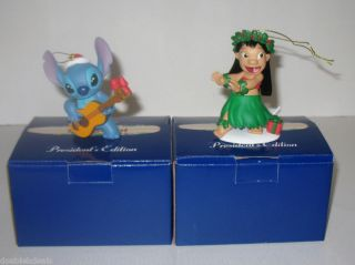 NEW DISNEY GROLIER ORNAMENTS LILO & STITCH CAKE TOPPERS
