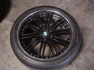 2007 2008 2009 2011 2012 BMW 7 series 20 black wheel 245/40/20 tire