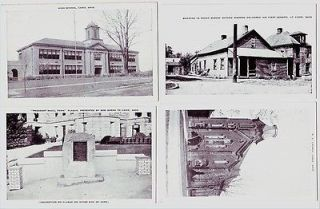 Postcards Harrison County BOB BURNS First Sermon HIGH SCHOOL Church