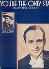 ONLY STAR Blue Heaven GENE AUTRY Enoch Light 1938 Sheet