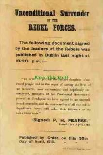1916 Easter Rising Surrender Padraig Patrick Pearse Irish Republican