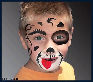 opean Body Art Puppy Design Face Paint Stencil Template Airbrush