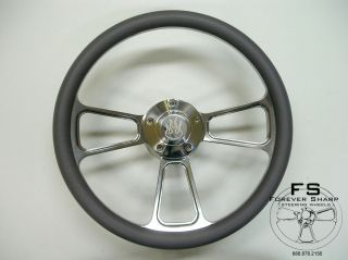 Half Wrap Aluminum Steering Wheel Set w/Flame Horn for Marine Boat