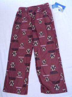 Boston College Eagles Pajama Pants Kids S 4/5 Small Sleep Lounge Pants