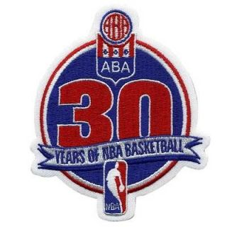 2005 06 NBA 30TH SEASON ABA NBA MERGER YEAR LOGO JERSEY PATCH