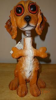 BOBBLE HEAD AND TAIL DOG AND BONE EXHART AMERICAN GREETINGS TWISTED