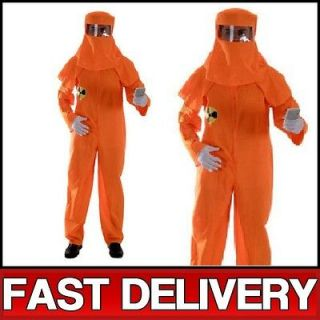 Adult Orange Nucleur Radiation Boiler Jump Suit Fancy Dress Up Costume