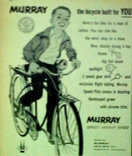 1958 Murray Boys Bicycles,Bikes (SPEED WEIGHT) AD