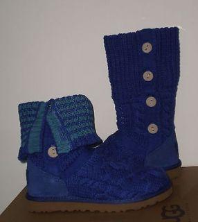 UGG Womens LELAND BOOTS 8US Blueberry/Peac ock NIB MSRP $170