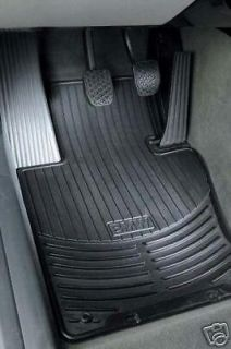 BMW E83 X3 Front Rubber Floor Mats   BLACK (Fits BMW X3)