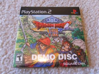 Dragon Quest VIII Journey of the Cursed King (Demo Edition) PS2