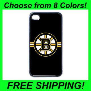 boston bruins ice hockey team iPhone 4 or 4S Hard Plastic Black case